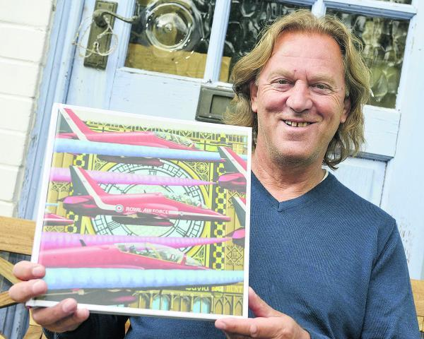 This Is Wiltshire: Artist David Bent, who has had his work turned into a special edition book for the Red Arrows' 50th Anniversary