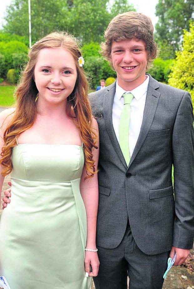 This Is Wiltshire: Jaye Green and Josh Hodder at Devizes School's Year 11 prom. Picture by Vicky Scipio
