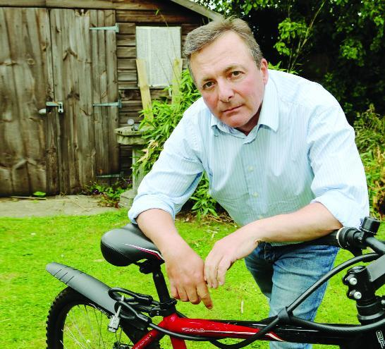 This Is Wiltshire: Tom Wright, a regular user of the cycle path where the body of Tom Rogers was found