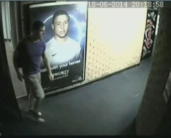 This Is Wiltshire: Police issued these CCTV pictures after a voyeur held a mobile phone under a changing room door and stole underwear belonging to schoolgirls