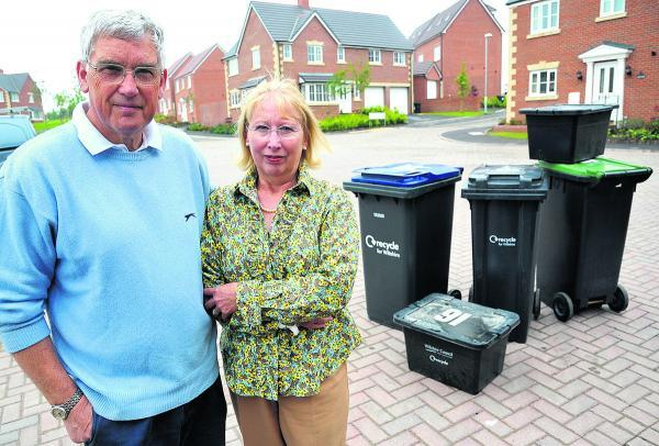 This Is Wiltshire: Keen gardener David Woollett with his wife Kay