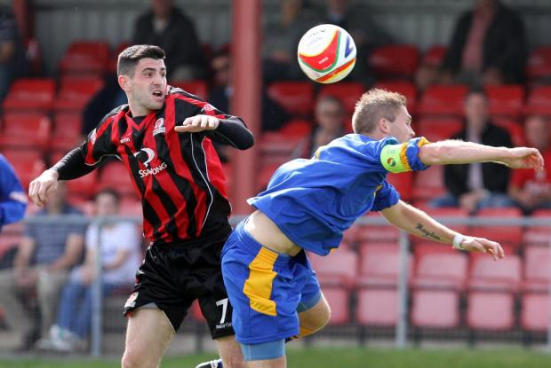 This Is Wiltshire: Jamie Reid (left) has returned to Cirencester Town
