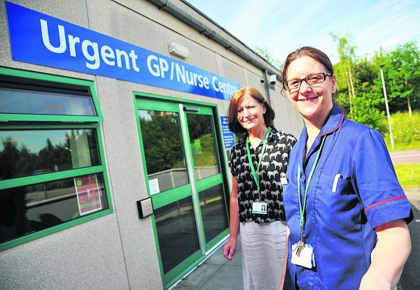 This Is Wiltshire: From left, Jo Boyd, the matron of the Urgent Care Centre  and Ruth Gumm Seqol's operational manager