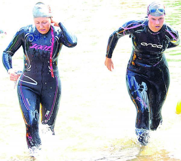 This Is Wiltshire: Swimmers emerge to head to transition at the Bowood Estate last weekend