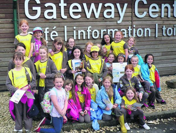 This Is Wiltshire: Thirty members of the 3rd Wootton Bassett Brownies visited Cotswold Water Park as part of their Out And About badge