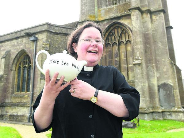This Is Wiltshire: The Rev Janet Anderson-MacKenzie is brewing up for her charity challenge in aid of the Church of St John