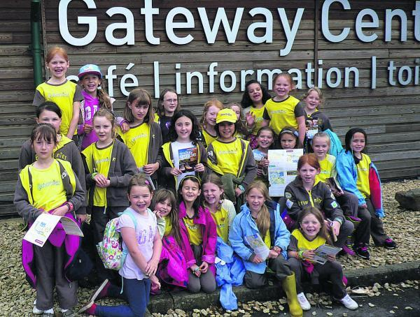 This Is Wiltshire: Brownies enjoy their visit to Cotswold Water Park, where they worked towards their Out and About badges