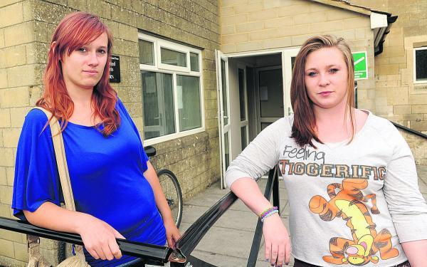 This Is Wiltshire: Holt Youth Club members Steph Pepler and Charlotte Jackson concerned about its future. Picture by Trevor Porter