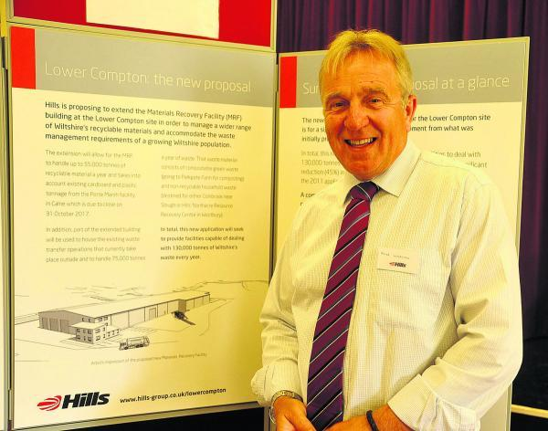 This Is Wiltshire: Hills boss Mike Webster was on hand to answer concerns