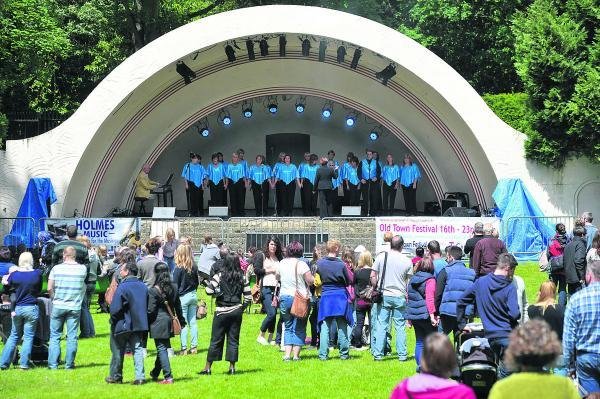 This Is Wiltshire: Kentwood Choir performs at a previous Old Town Festival