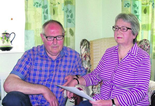 This Is Wiltshire: Pamela Boxford-White and her husband Duncan, who have received £9,000 in compensation from Wiltshire Police after Pamela was wrongfully arrested and held in a police cell for seven hours despite her disabilities