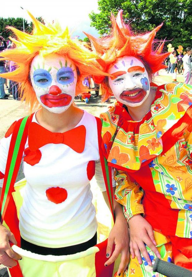 This Is Wiltshire: Clowns at Calne carnival and summer festival