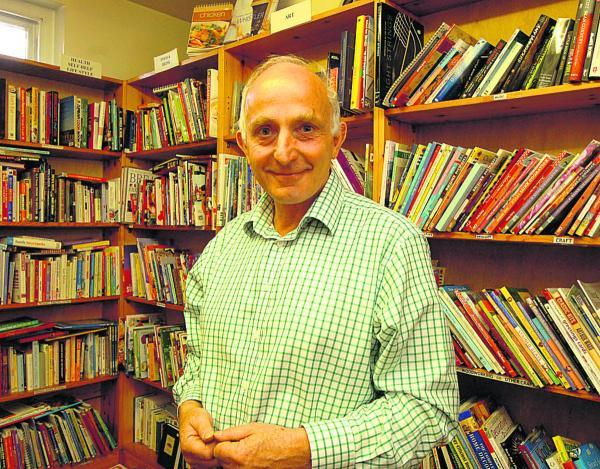 This Is Wiltshire: Independent bookseller  Richard Matters is closing his Devizes shop after nine years. Picture by Paul Morris