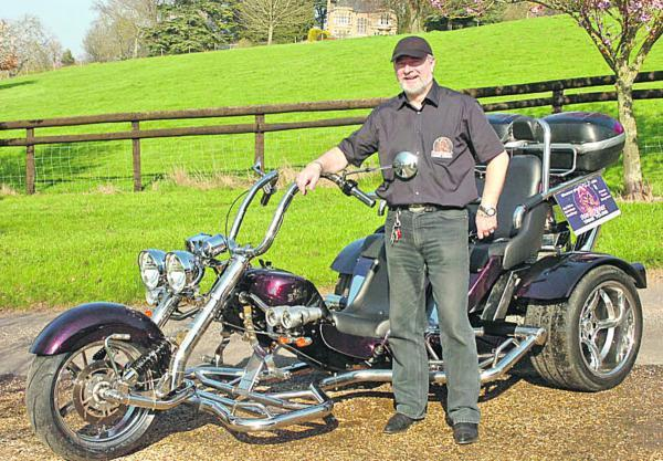 This Is Wiltshire: Stewart Mackay with his Razorcat trike. Picture by Trevor Porter