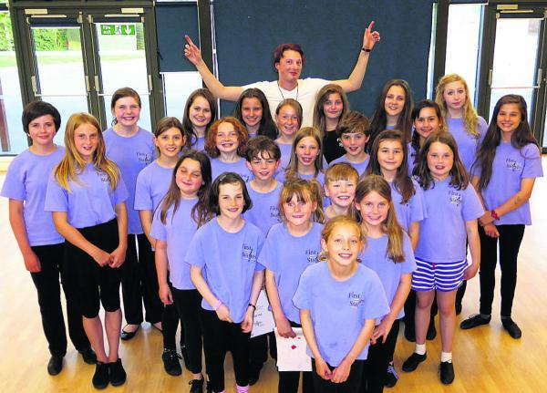 This Is Wiltshire: Band leader Barney Goodall with members of First Stages, who will perform a musical version of a Shakespearian comedy