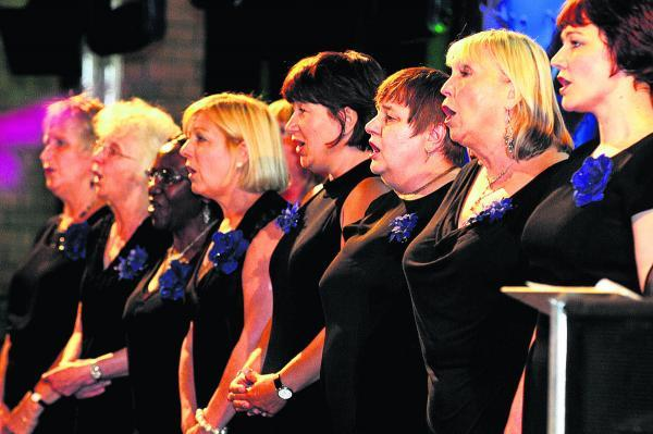 This Is Wiltshire: Five choirs, 100 voices and one big concert. Staff at Great Western Hospital are getting their voices in tune for a special gala concert to raise money for their breast cancer treatment appeal