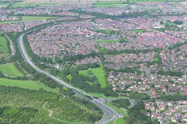 This Is Wiltshire: An aerial view of Wichelstowe