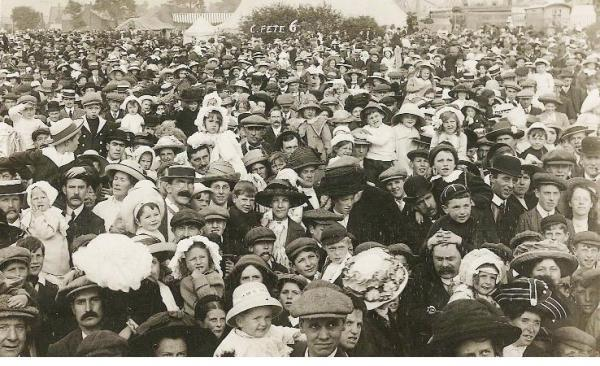 This Is Wiltshire: Dig those hats... virtually the entire community converged on The Park one  summer's day every year