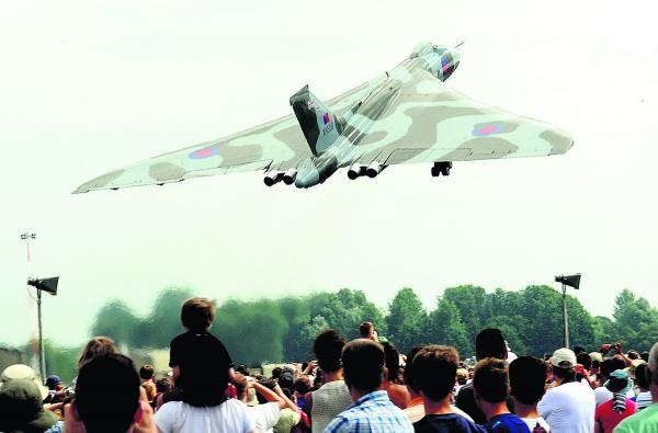 This Is Wiltshire: A vulcan taking off at last year's show