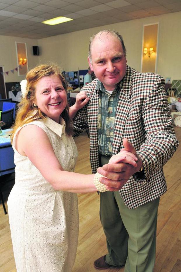 This Is Wiltshire: Erica and Cliff Fowers learn some dance steps