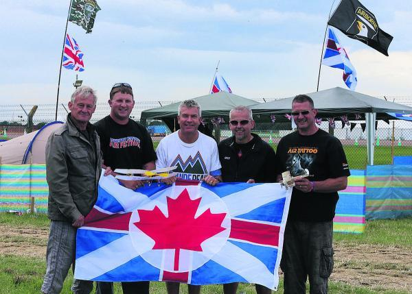 This Is Wiltshire: Aviation fans Bernie Cooper, Scott Whittaker, Rod McDonough, Barry Scanes and Simon Whittaker
