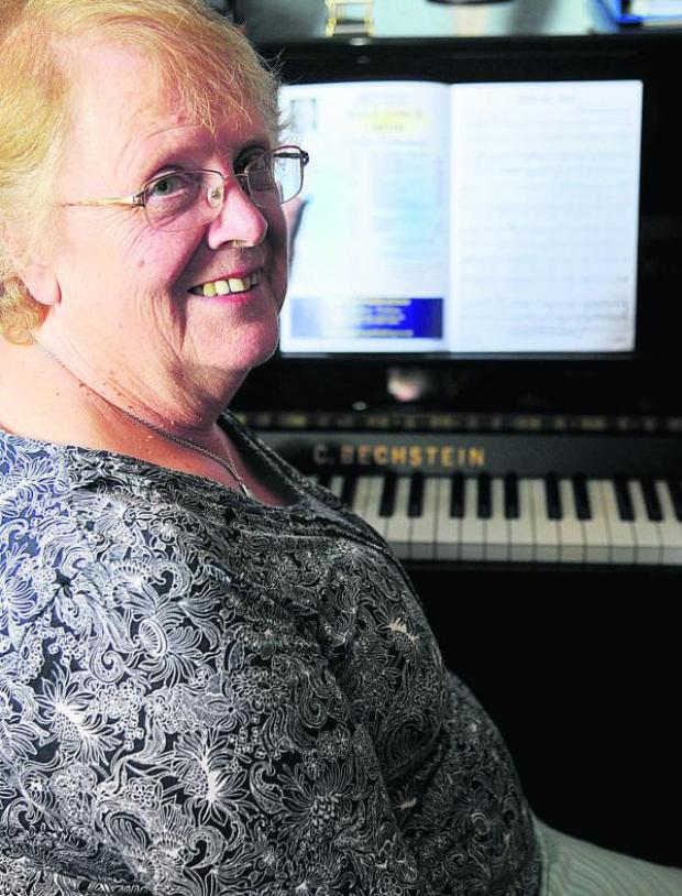 This Is Wiltshire: Frances Couldridge, who has been accompanist with Swindon Male Voice Choir for 33 years