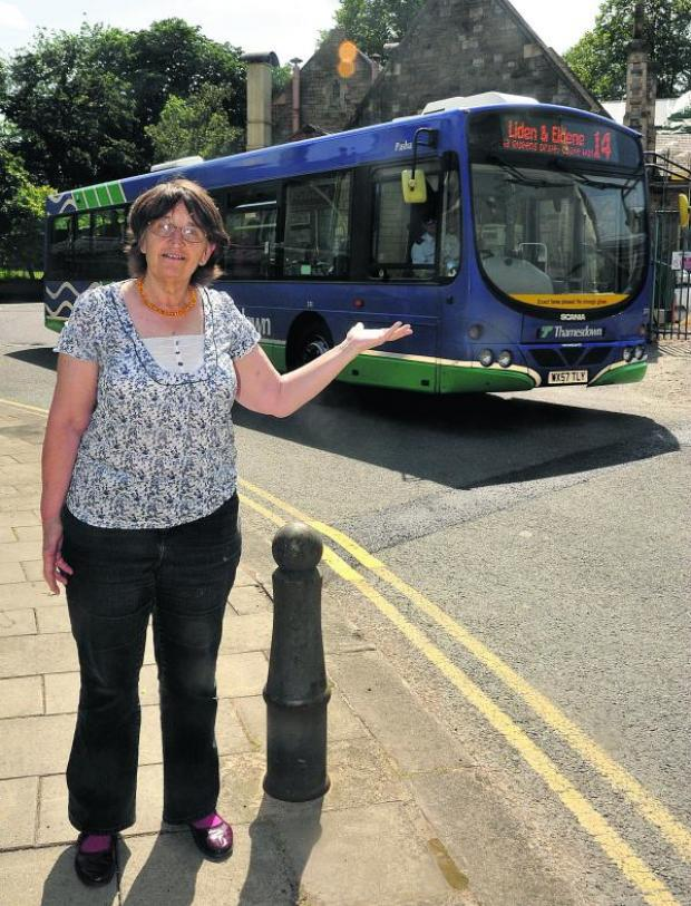 This Is Wiltshire: Martha Parry, of Civic Voice, whose members feel that Bristol Street is not suitable for buses as the road is not wide enough and there is a sharp turning with a main entrance round the corner