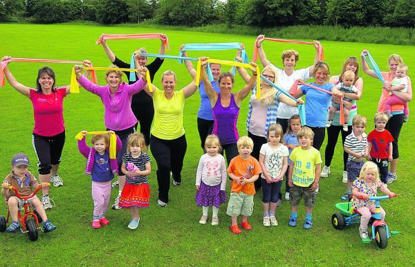 This Is Wiltshire: Mums and tots keep fit before Lea and Charlton Todder Group meets