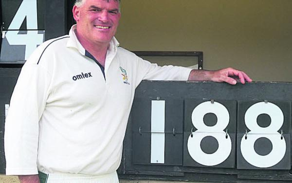 This Is Wiltshire: Ted O'Leary, scored 188 not out for Winsley 2nd in their win ov