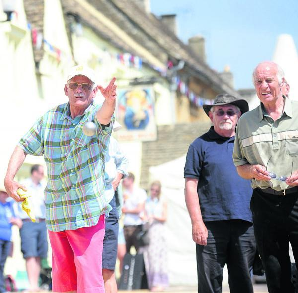 This Is Wiltshire: Action from last year's Sherston boules festival