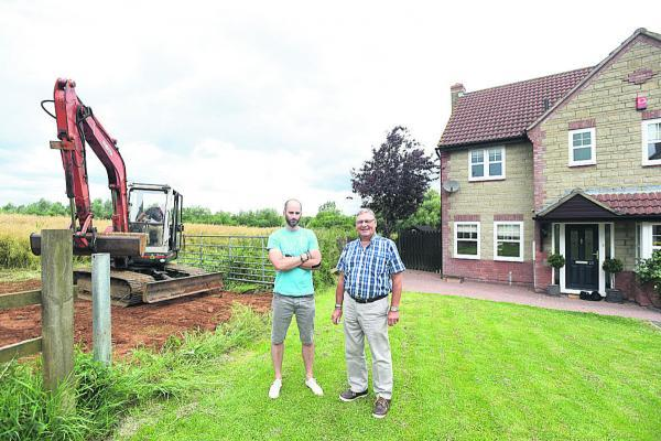 This Is Wiltshire: Alex Nicholls, left, has backing from Councillor Howard Marshall over the new path