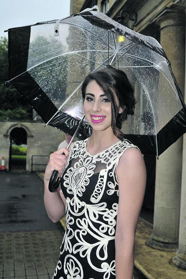 This Is Wiltshire: Kelsey James arrives at the prom at Leigh Park Hotel