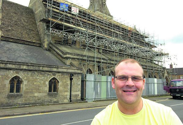 This Is Wiltshire: Vicar Simon Dunn contemplates the fate of the St Paul's church hall