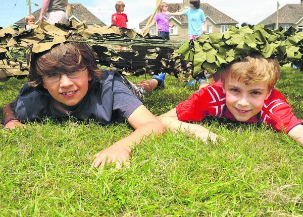 This Is Wiltshire: Ben and Daniel crawl into action