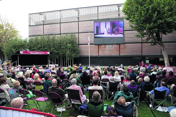 This Is Wiltshire: A performance of Madame Butterfly at a previous opera event at Wharf Green