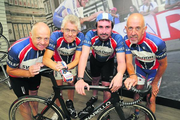 This Is Wiltshire: Members of the Swindon Wheelers cycling cl