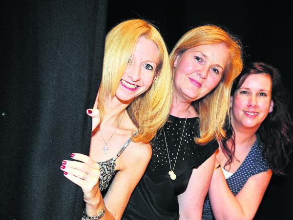 This Is Wiltshire: Ann-Marie Burgess at the show with Gaynor Moreton and Vicki Hornby
