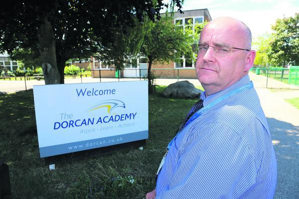 This Is Wiltshire: Simon Neads, the assistant headteacher at Dorcan Academy where staff have been warning pupils about a man possibly stalking girls near the school