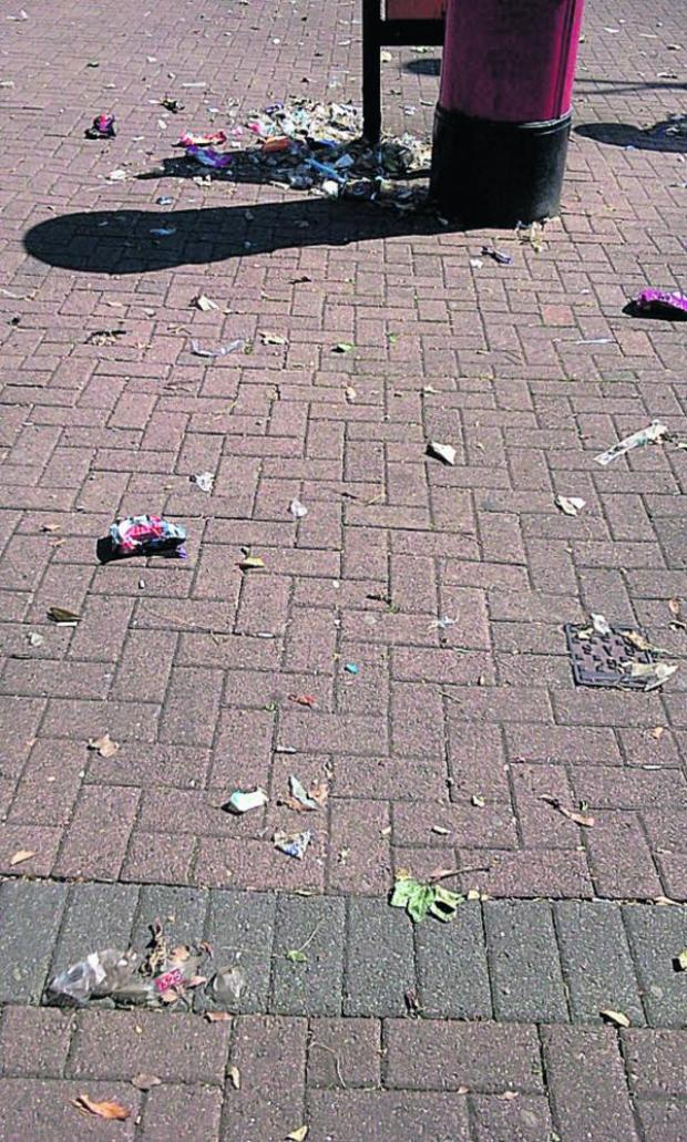 This Is Wiltshire: Sussex Square with litter strewn around