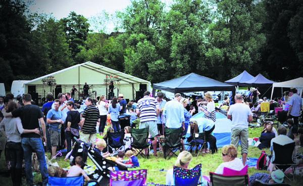 This Is Wiltshire: Many people brought their children to enjoy a sunny day of musical entertainment at the family-friendly Mantonfest event