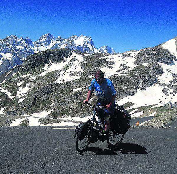 This Is Wiltshire: Daniel Cavender coped with high altitude on his cycle trek from Rome to Swindon