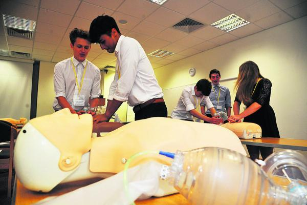 This Is Wiltshire: Students taking part in the Dare To Doctor course at GWH