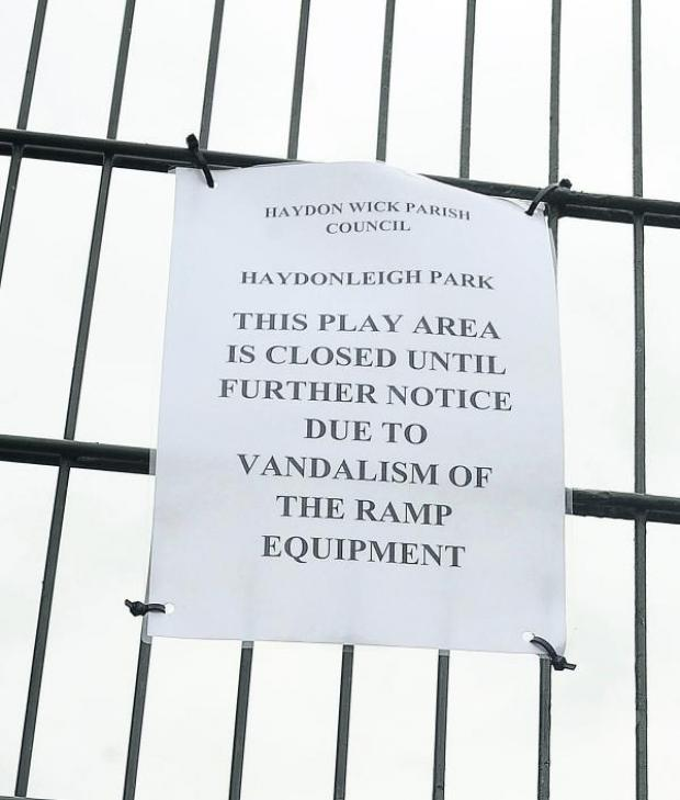 This Is Wiltshire: The notice on the gate of the skate park