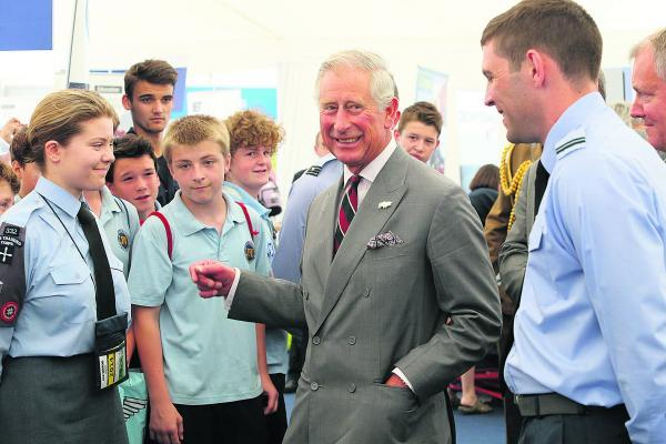 This Is Wiltshire: Prince Charles makes flying visit to air tattoo