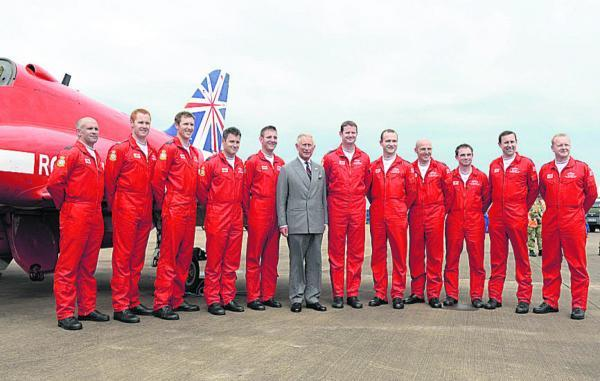 This Is Wiltshire: Prince Charles meets Red Arrows' pilots at the Royal International Air Tattoo