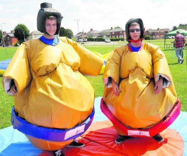 This Is Wiltshire: Connor O'Donoghue, left, and John Lester have big ambitions in the Sumo ring
