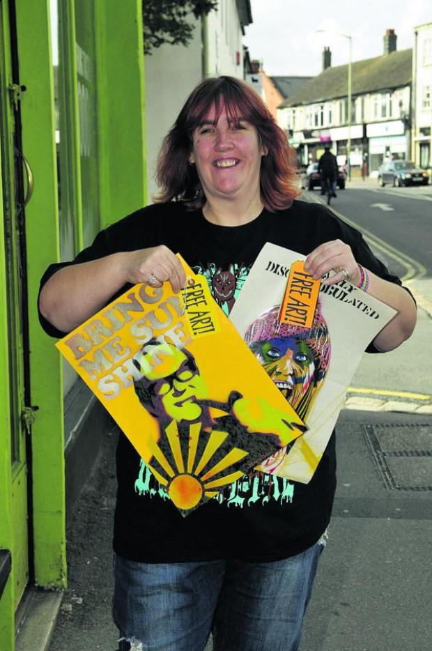 This Is Wiltshire: Sarah Harris, who has organised Free Art Friday in Swindon