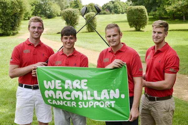 This Is Wiltshire: Kendle McCrossan, Jack Seaman, Richard Scarrott and Dan Pulham completed 100 holes in a day in aid of MacMillan Cancer Support