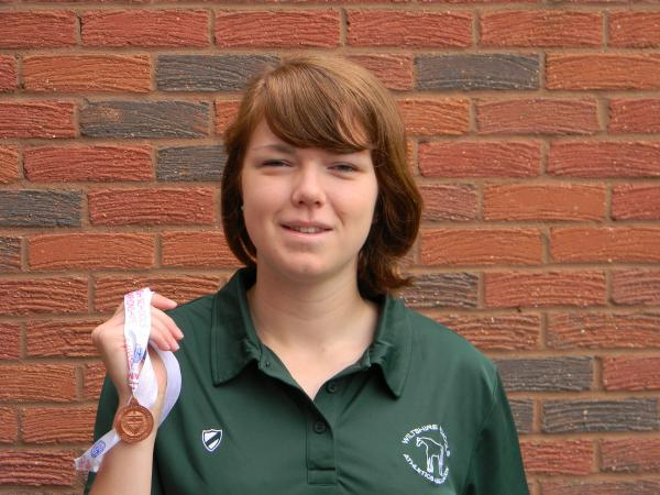 This Is Wiltshire: Emily Hutchinson, with her English Schools bronze medal