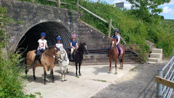 This Is Wiltshire: Lottie and Pippa Royle, Molly Rider and their friend Mina Angus make of the reopened tunnel